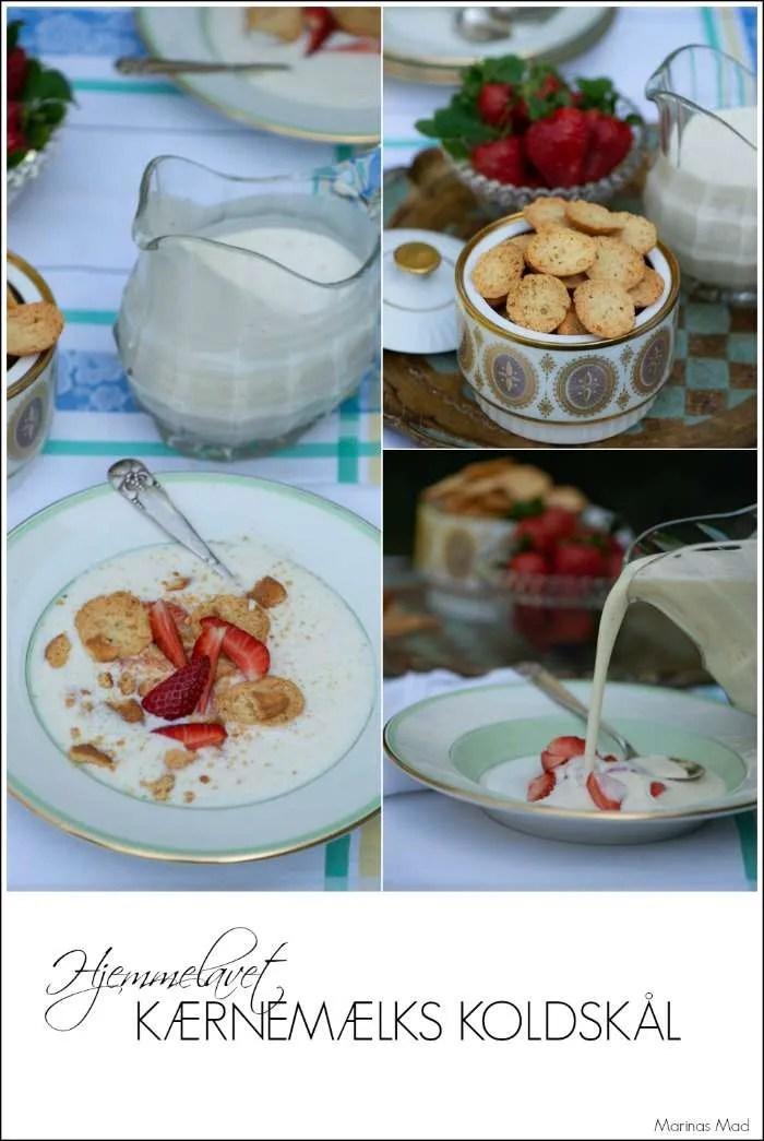Opskrift på kærnemælkskoldskål med citron og tykmælk