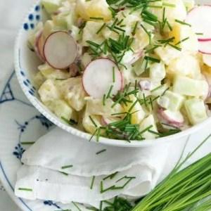 Marinas opskrift på klassisk kartoffelsalat