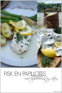 Fisk en papillots til ovn eller grilll