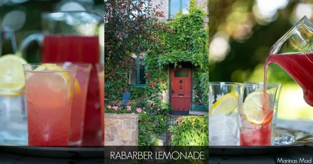 Hjemmelavet rabarbersaft til lemonade