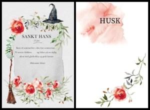 Print en gratis invitation til Sankt Hans