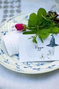 Bordkort med heksehat. Lige til at printe