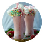 Opskrift på jordbær milkshakes
