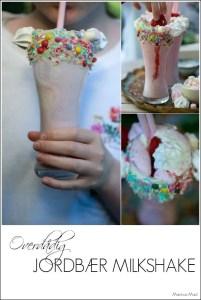 Opskrift på lækre jordbær milkshakes ala Black Tap