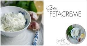 Feta creme af rørt feta. Opskrift