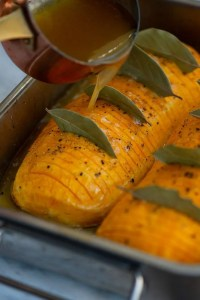 Opskrift på ovnbagt græskar med honning og chili