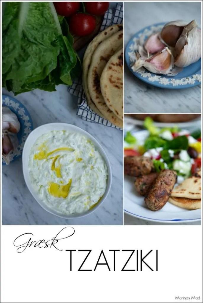 Ægte græsk tzatziki. En nem opskrift fra Marinas Mad