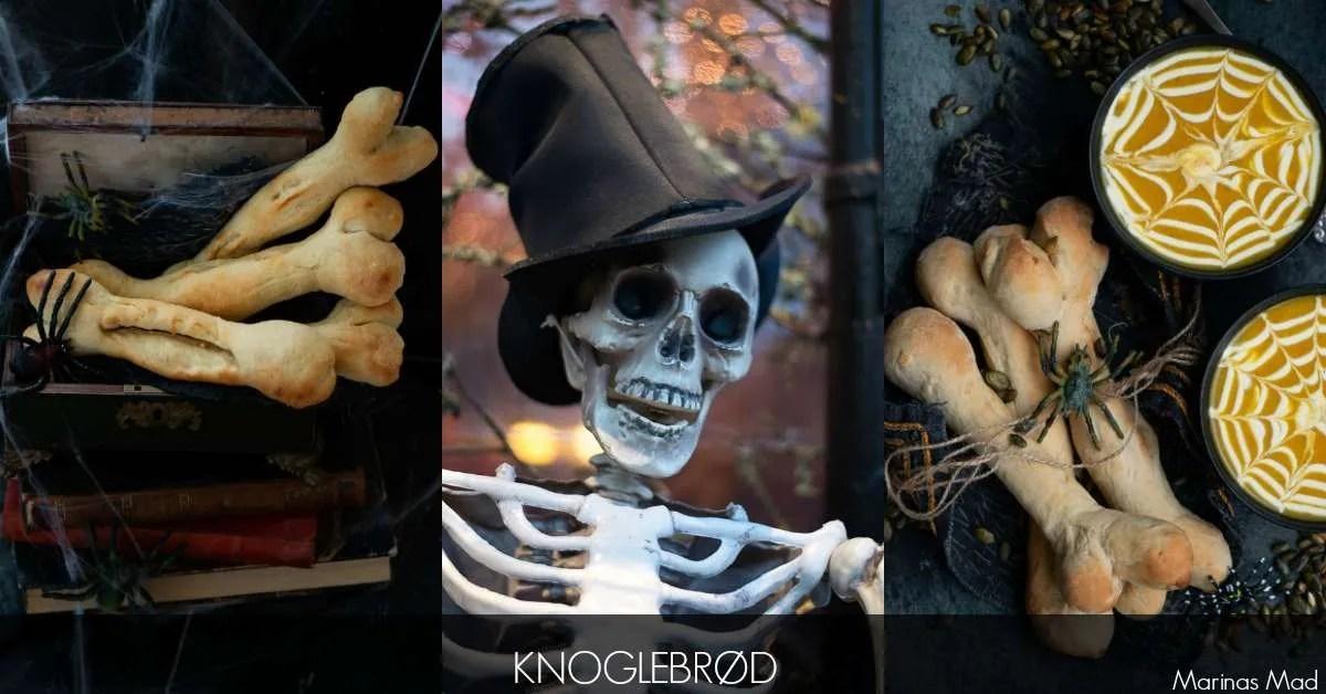 Opskrift på Halloween brød formet som knogler