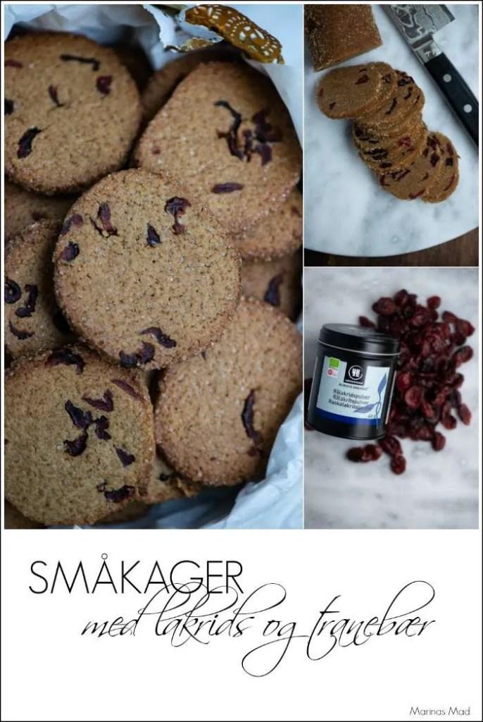 Sådan bager du småkager med lakrids og tranebær