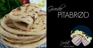 Hjemmebagte græske pitabrød