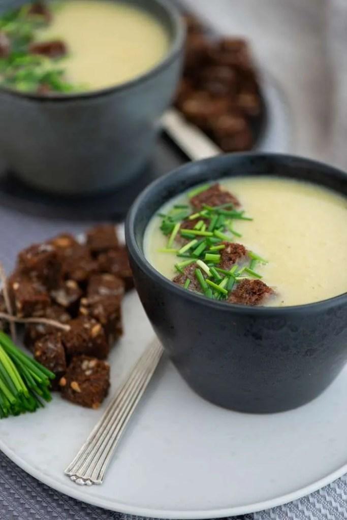 Toppings til kartoffel porre suppe.