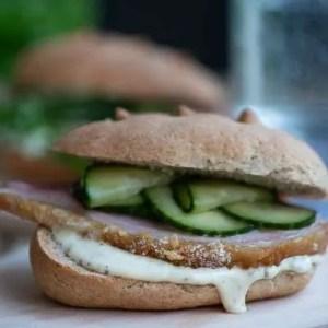 Opskrift på sandwich med hamburgerryg