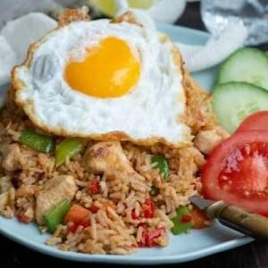 Opskrift på fried rice