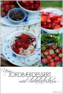 Opskrift på hurtig jordbær dessert