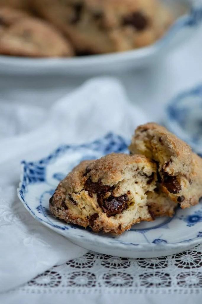 Opskrift på scones med chokolade