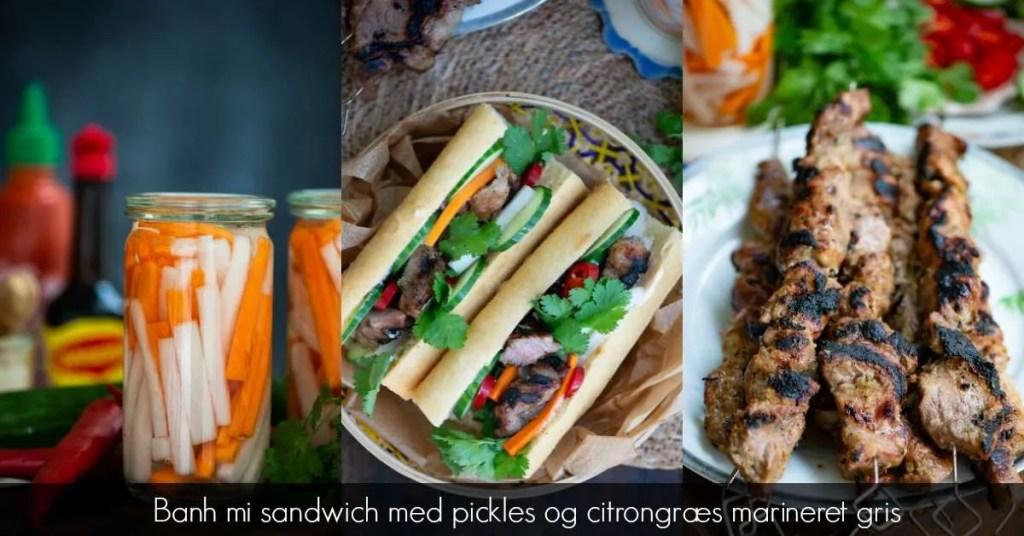 Banh mi sandwich med citrongræs gris