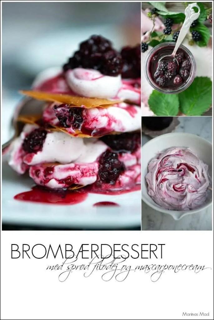 Sådan laver du dessert med brombær og filodej