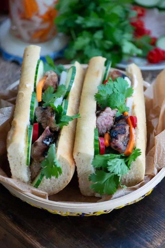Opskrift på vietnamesisk banh mi sandwich
