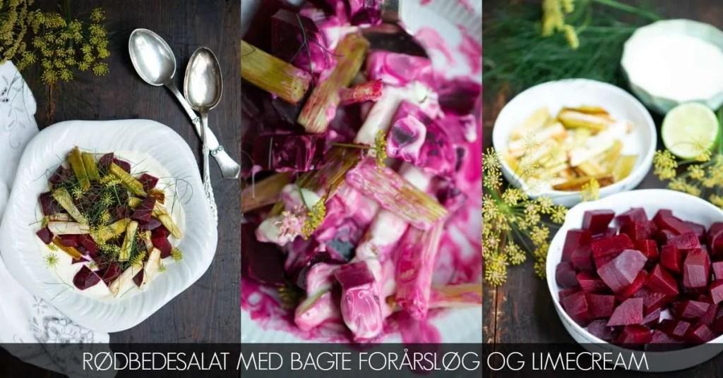 Opskrift på salat med bagte rødbeder