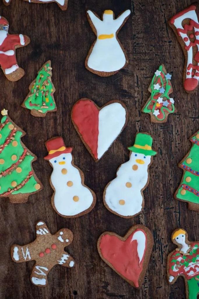 Glasur pyntede julesmåkager