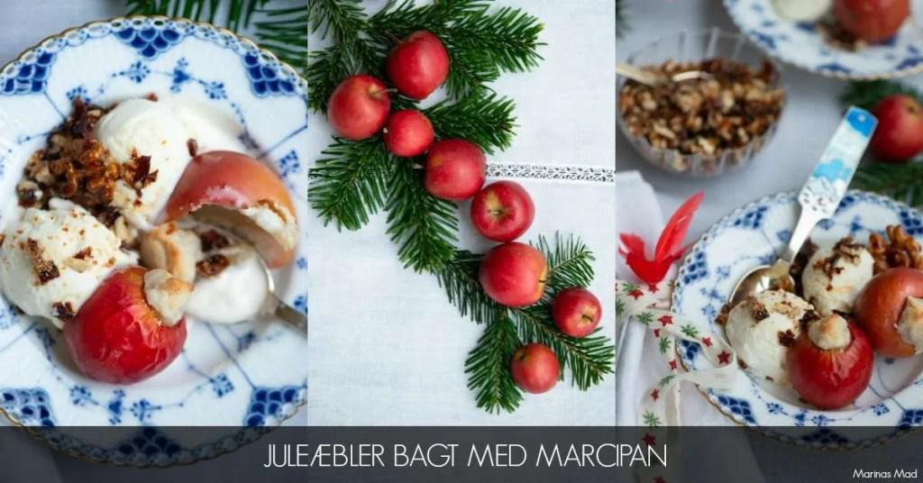 Juleæbler bagt med marcipan