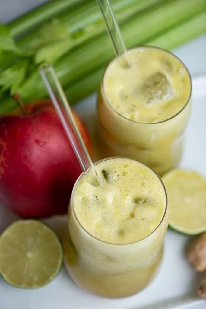 Opskrift på juice med bladselleri og æble