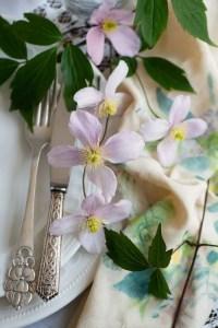 Der er dækket op til maden først i juni bla med montaner der blomstre lige nu