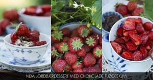 Opskrift på nem jordbær dessert