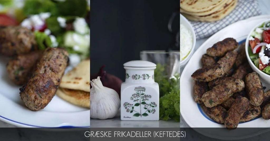 Opskrift på græske frikadeller på græsk kaldet keftedes