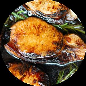 Opskrift på koteletter i kryddermarinering med æblemost