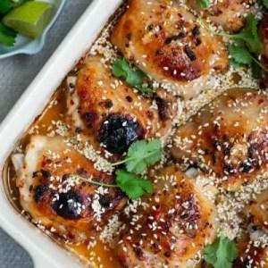 Nem og virkelig lækker opskrift på kyllingelår