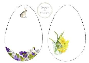 Udskriv påskekort uden tekst