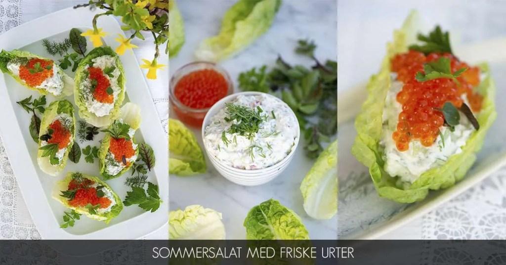 Sommersalat med friske urter