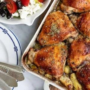 Opskrift på græsk kylling med kartofler