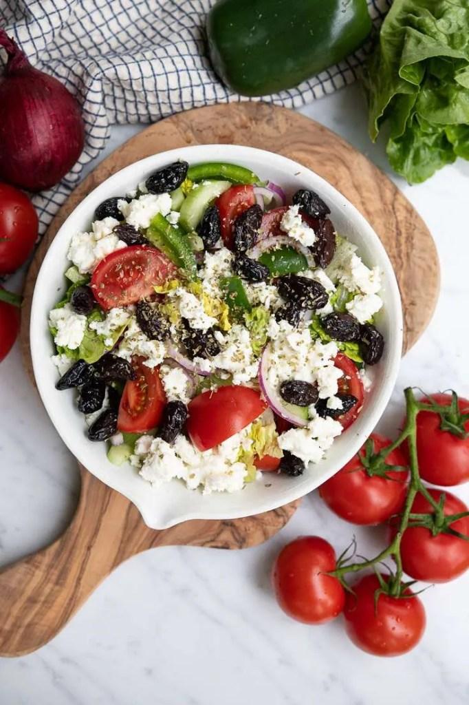 Opskrift på blandet græsk salat