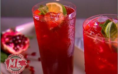 Sparkling Pomegranate Tea Punch