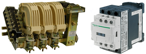 electrical contactor and relay