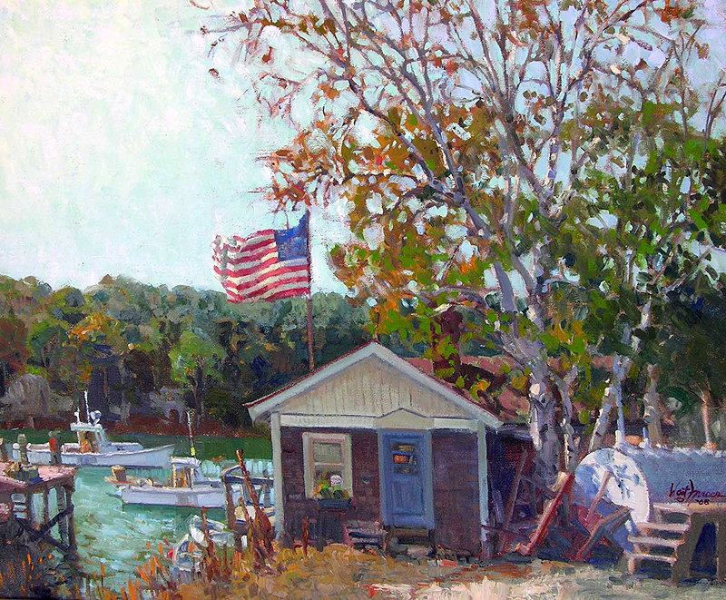 fraser littleriver - A look at the J. Russell Jinishian Gallery Fine marine art in Fairfield