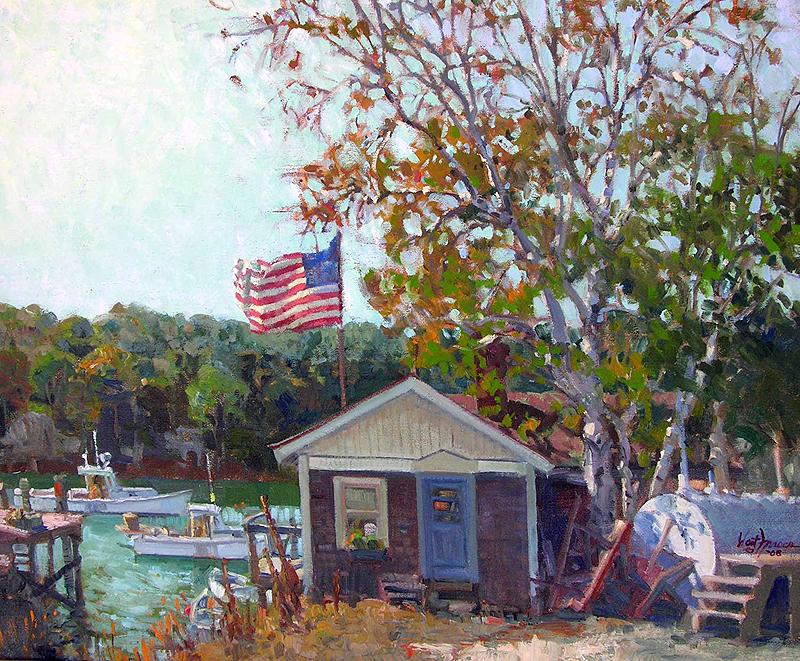fraser littleriver - A look at the J. Russell Jinishian Gallery Fine marine art in Fairfield