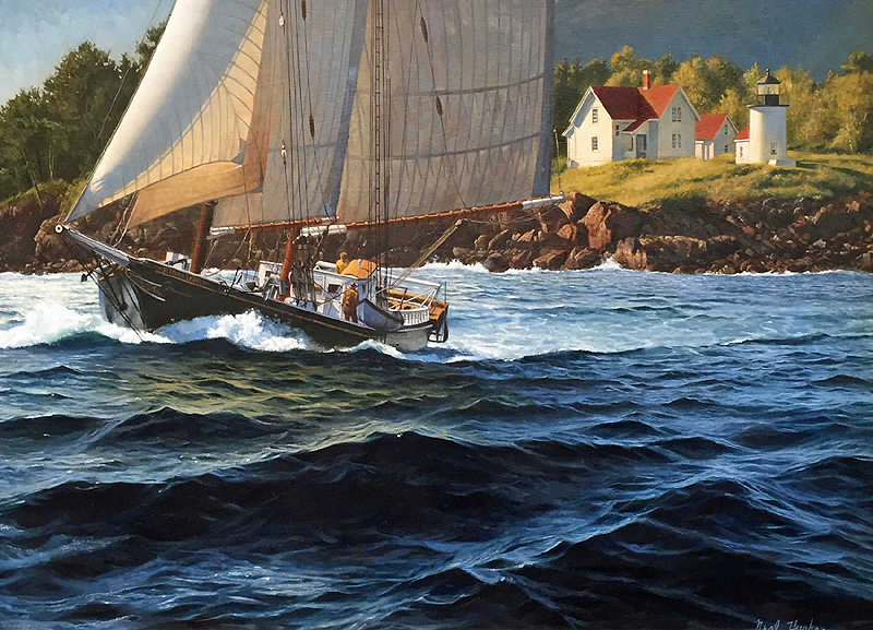 hughes tabercamden - A look at the J. Russell Jinishian Gallery Fine marine art in Fairfield