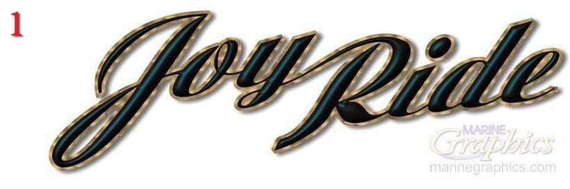 Joy Ride custom boat lettering service. - 1
