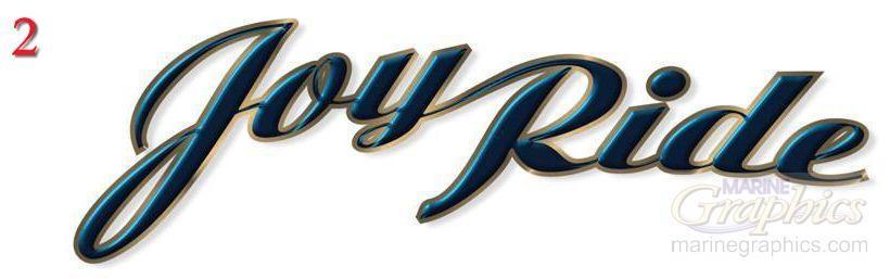 Joy Ride custom boat lettering service. - 2