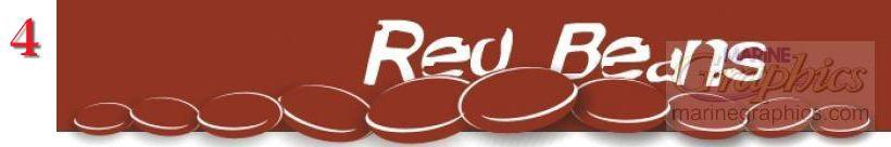 Red Beans boat lettering