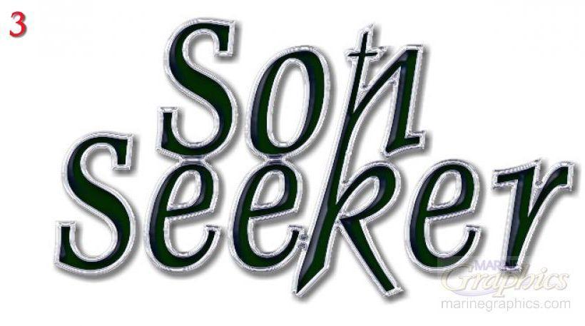 Son Seeker boat lettering