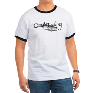 Mens Ringer T with boat name