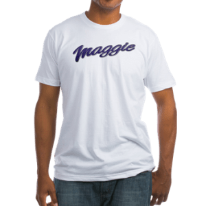 Men's fitted t-shirt with boat name