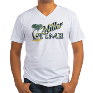 Mens Vneck Crew Shirt with boat name