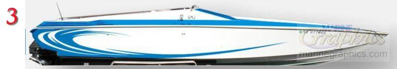 Marine Graphics wraps and striping designs for your boat.