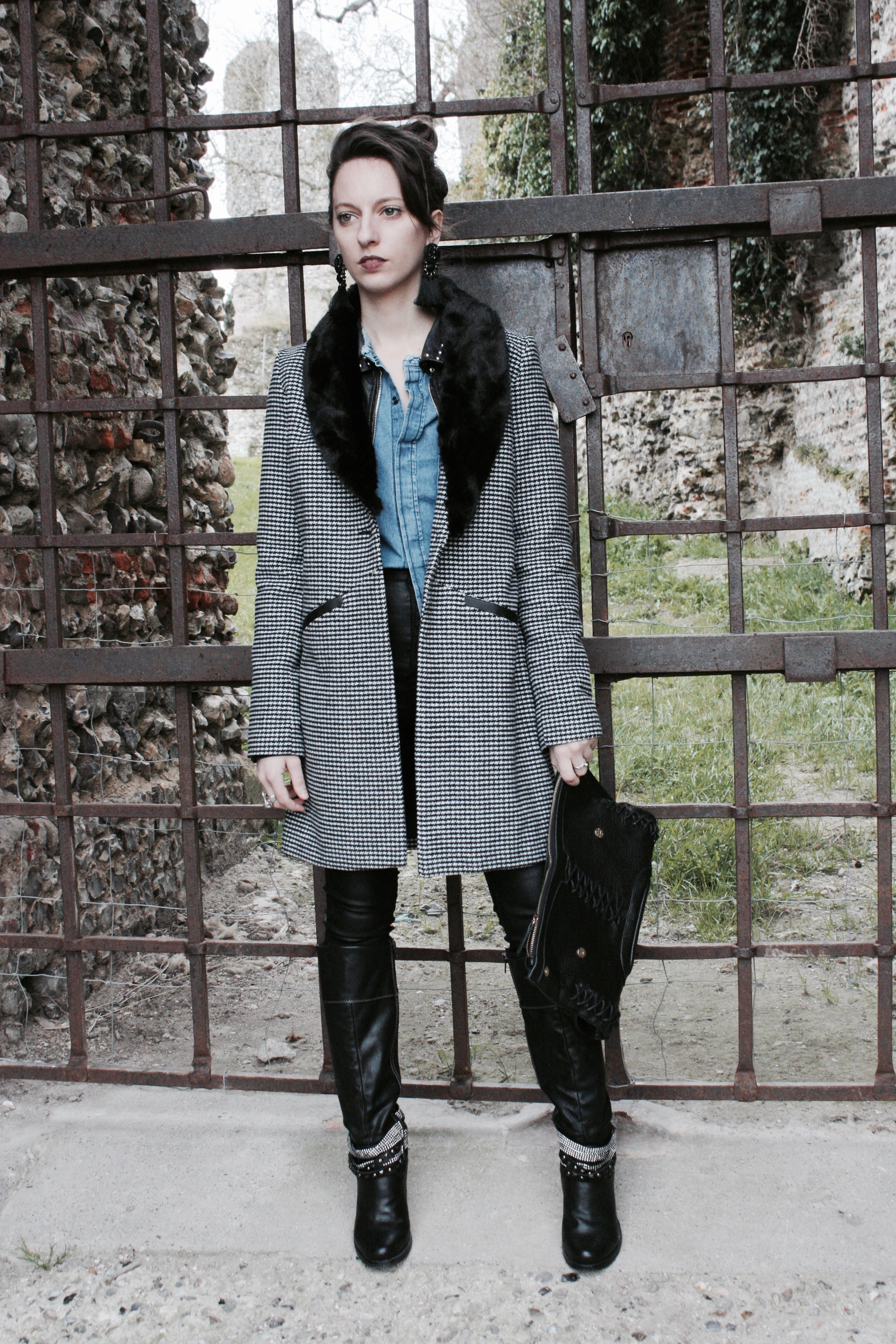 Vichy & Leather Boots