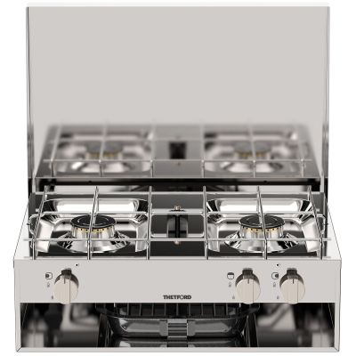 THETFORD LPG 2 BURNER HOTPLATE AND GRILL STAINLESS STEEL